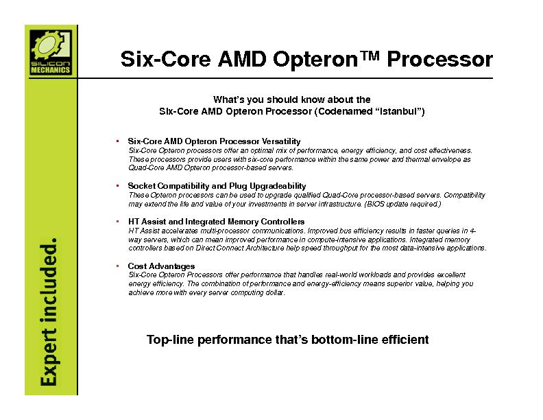 What's you should know about theSix-Core AMD Opteron Processor (C