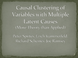Causal Clustering of Variables with Multiple Latent