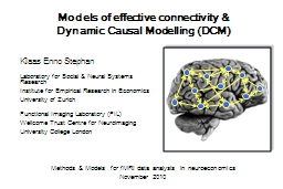 Models of effective connectivity &
