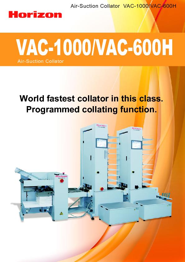 Air-Suction Collator  VAC-1000/VAC-600HVAC-1000/VAC-600H