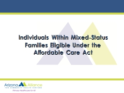 Individuals Within Mixed-Status Families Eligible Under the PowerPoint PPT Presentation