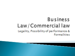 Business Law/Commercial law