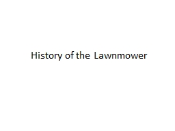 History of the Lawnmower
