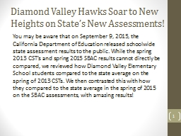 Diamond Valley Hawks Soar to New Heights on State's New A