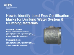 How to Identify Lead-Free Certification Marks for Drinking