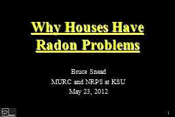 Why Houses Have Radon PowerPoint PPT Presentation