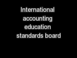 International accounting education standards board