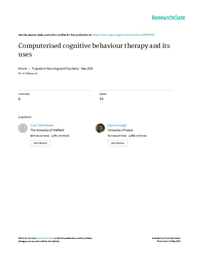 a study on the rational emotive behavior therapy rebt as the predecessor of cognitive behavior thera Rational emotive imagery role intervention - rational emotive behavior therapy human beings and cognitive therapy: an exploratory study - core beliefs are.