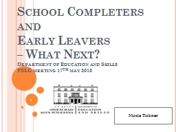 School Completers and PowerPoint PPT Presentation