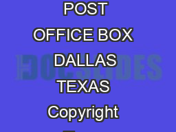 SNLS SNLS BCDTODECIMAL DECODERSDRIVERS SDLS  NOVEMBER   REVISED MARCH  POST OFFICE BOX  DALLAS TEXAS  Copyright  Texas Instruments Incorporated PRODUCTION DATA information is current as of publicatio