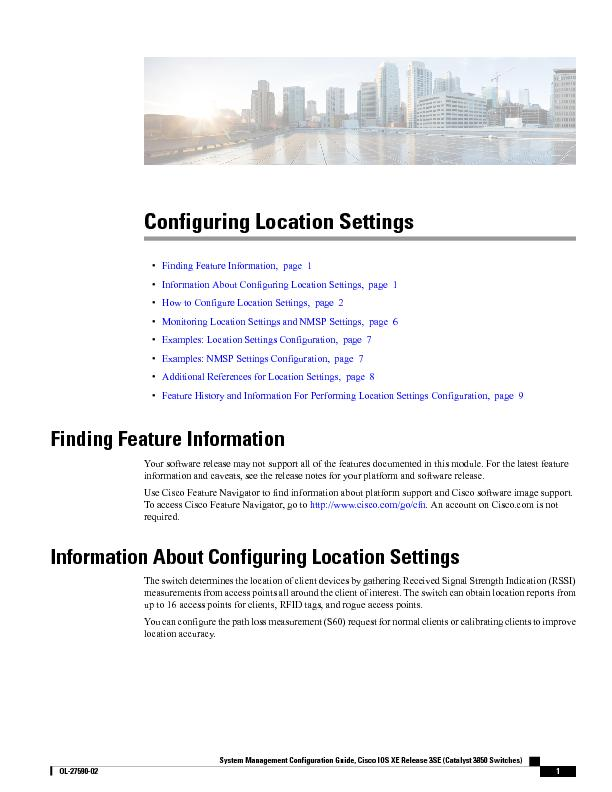 Configuring Location Settings