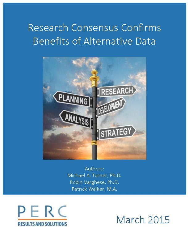Research consensus confirms benefits of alternative data