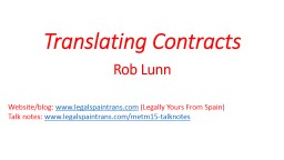 Translating Contracts