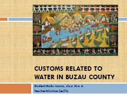 Customs related to water in Buzau county