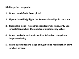 Making effective plots: