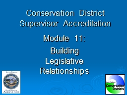 Conservation District Supervisor Accreditation PowerPoint PPT Presentation