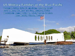 US Military Families in the Asia-Pacific