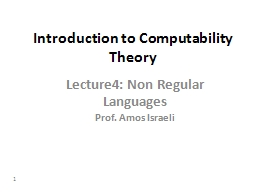 1 Introduction to Computability Theory