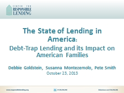 The State of Lending in America PowerPoint PPT Presentation