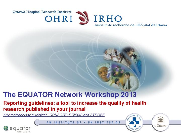 The EQUATOR Network Workshop 2013