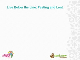 Fasting and Lent