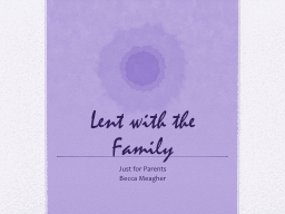 Lent with the Family