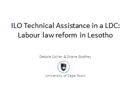 ILO Technical Assistance in a LDC: