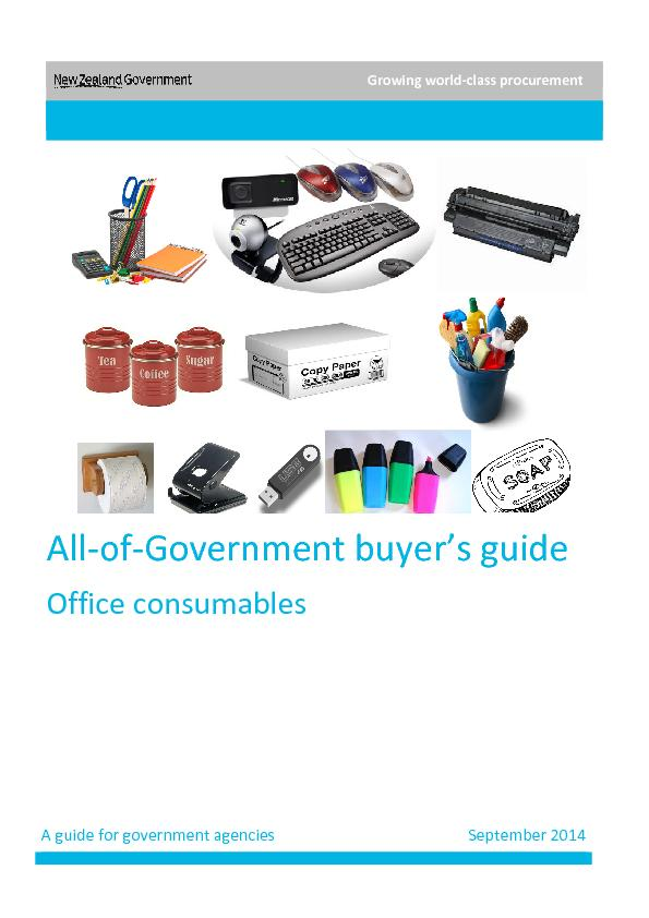 All of government buyer,s guide office consumable