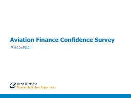 Aviation Finance Confidence Survey