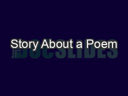 Story About a Poem