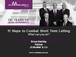 11 Steps to Combat Short Term Letting