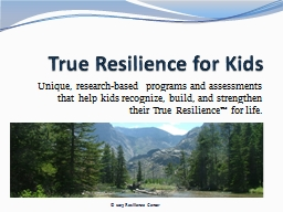 True Resilience for Kids