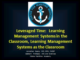 Leveraged Time:  Learning Management Systems in the Classro