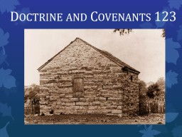 Doctrine and Covenants 123