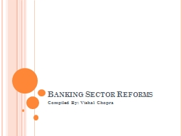 Banking Sector Reforms PowerPoint PPT Presentation