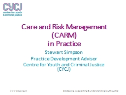 Care and Risk Management (CARM)
