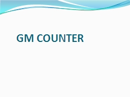 GM COUNTER