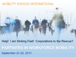 Help!  I am Sinking Fast!  Corporations to the Rescue?