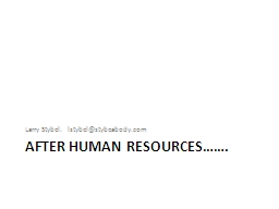 After human resources…….