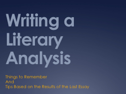 steps to writing a literary analysis essay If you need help with your literary analysis, you've come to the right place i'm here to explain how to write a literary analysis that works.