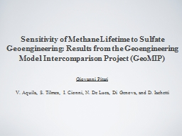 Sensitivity of Methane Lifetime to Sulfate Geoengineering: