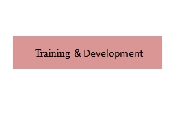 Training PowerPoint PPT Presentation