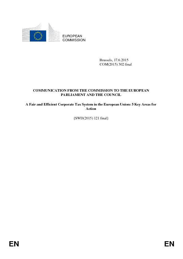 COMMUNICATION FROM THE COMMISSION TO THE EUROPEAN