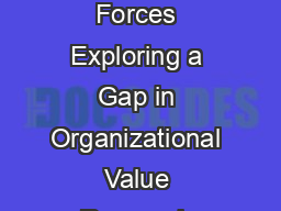 Ideal Values and Counterideal Values as Two Distinct Forces Exploring a Gap in Organizational Value Research Niels Van Quaquebeke Matthias M PowerPoint PPT Presentation