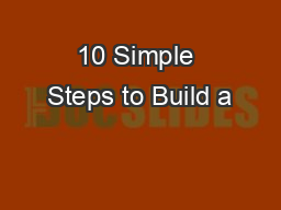 10 Simple Steps to Build a