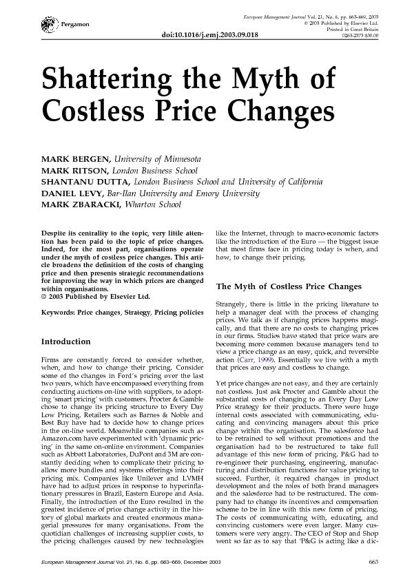 Shattering the myth of costless price changes