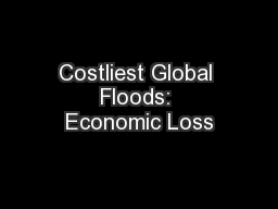 Costliest Global Floods: Economic Loss