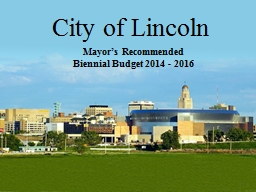 City of Lincoln PowerPoint PPT Presentation