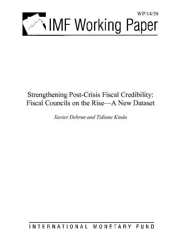 Strengthening Post-Crisis Fiscal Credibility: Fiscal Councils on the R