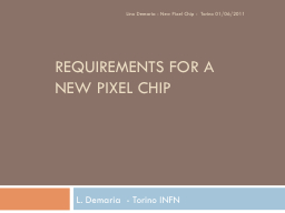 Requirements for a new